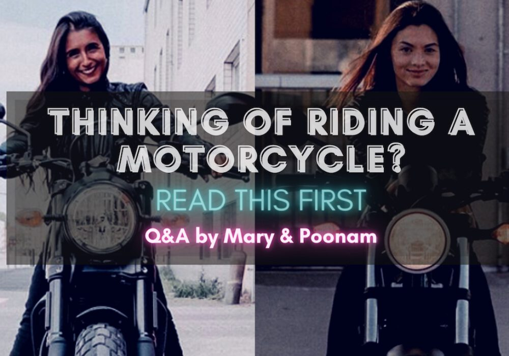 Thinking of riding a motorcycle – read this first
