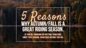 5 reasons why Autumn (fall) is a great riding season.
