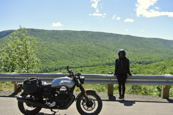 Motorcycling along the Cabot Trail