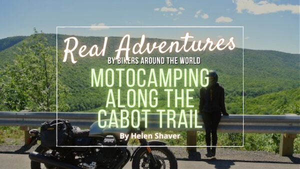 Motocamping along the Cabot Trail