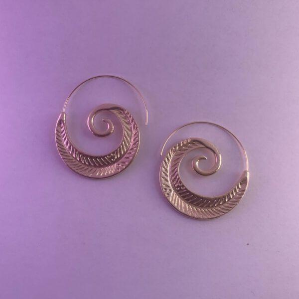 Leaf Spiral Earrings Petitebikers