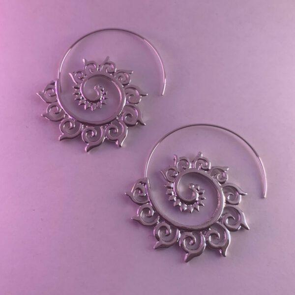 Lotus earrings silver