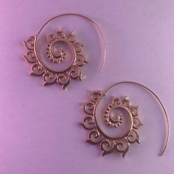Lotus earrings golden
