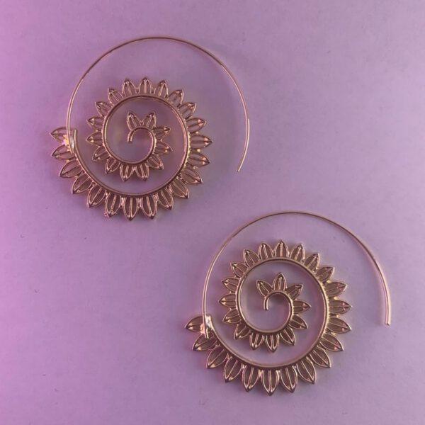 Spiral Earrings golden